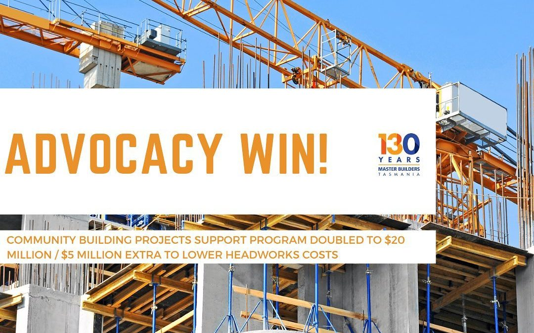 ADVOCACY WIN – Community Building Projects Support Program Doubled